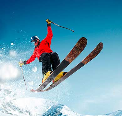 outdoor sky snow skiing snowboarding sports equipment water sport person surfing sport jumping ski snowboard air boardsport surfboard slope Snowboard