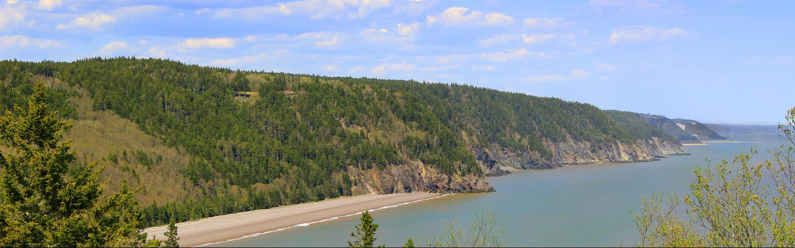 Fundy Trail - Hiking  outdoor water sky tree mountain nature cloud lake surrounded traveling shore