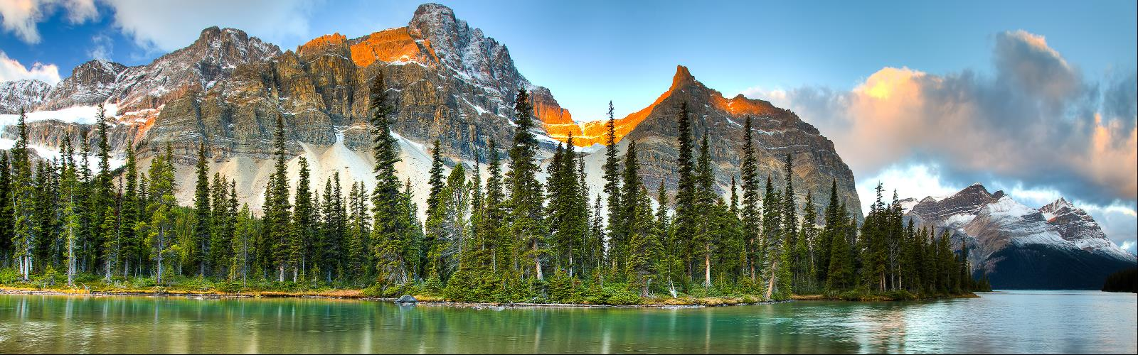 Larch Valley, Banff National Park, Alberta - Hiking  outdoor tree nature snow sky landscape mountain water pond lake forest surrounded
