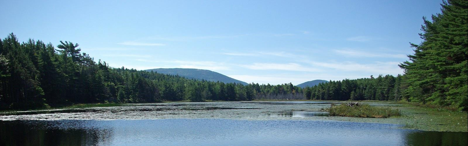 Mcfarland Mountain, Maine - Hiking  outdoor tree water sky mountain landscape cloud lake nature pond surrounded day