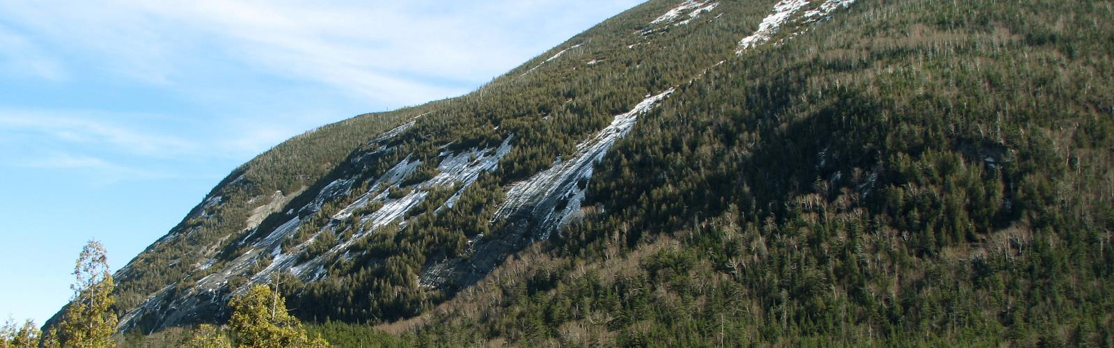 Mount Colden, New York - Hiking  outdoor sky grass tree mountain snow nature hill plant slope hillside highland