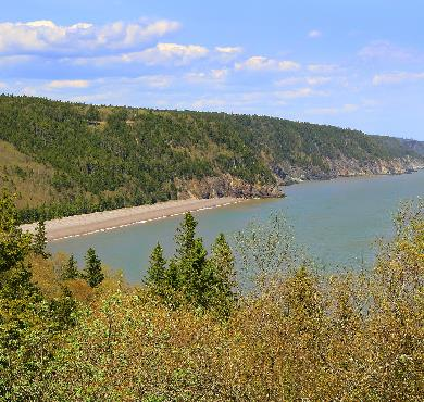 Fundy Trail  outdoor water sky tree mountain nature cloud lake surrounded traveling shore