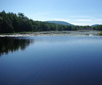 McFarland Mountain, Maine  outdoor tree water sky mountain landscape cloud lake nature pond surrounded day