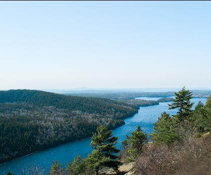 Beech Mountain, Maine  outdoor sky lake tree water mountain nature landscape hill hillside overlooking land plant